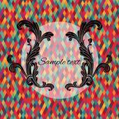 Colorfull diamond tiles vector card. — Stock Vector