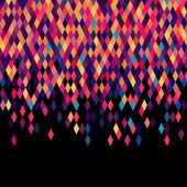 Colorfull diamond tiles vector card. — Vecteur