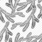 Vector seamless pattern with pine branches. — Stock Vector