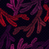Vector seamless pattern with pine branches. — 图库矢量图片