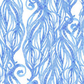 Watercolor-style vector seamless pattern with waves. — Vecteur