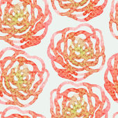 Watercolor-style vector seamless pattern with yellow flowers. — 图库矢量图片