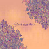 Colorful vector card with floral pattern. — 图库矢量图片