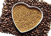 Coffe heart — Stock Photo