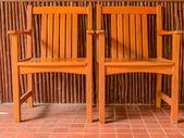 椅子棕色 — 图库照片