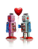 Robots in Love — Stock Photo