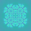 Stock Photo: Symmetric ornament, kaleidoscope background
