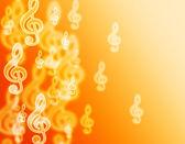 Violin clef bokeh. — Stockfoto