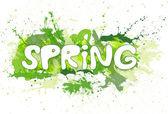Spring green with inkblots. — Stock Photo