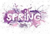 Spring violet with spatters. — Stock fotografie