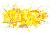 July  with  spatters. — 图库照片