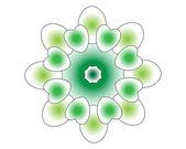 Varicoloured shapes objects — Wektor stockowy