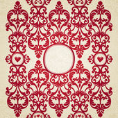 Vector seamless border with swirls and floral motifs in retro style. — Stock Vector
