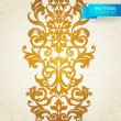 Vector seamless border in Victorian style. — Stock Vector #38749443