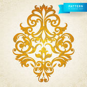 Vector baroque ornament in Victorian style. — Stock Vector