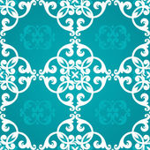 Seamless pattern with swirls and floral motifs — Vector de stock