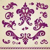 Ornamento barroco de estilo victoriano — Vector de stock