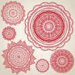 Ornamental round lace pattern — ストックベクタ