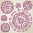 Ornamental round lace pattern — Stockvektor