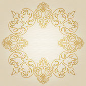 Golden ornament frame in Victorian style — Stock Vector