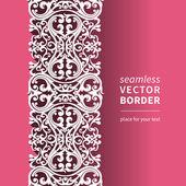 Vector Victorian ornamental border — Stock Vector