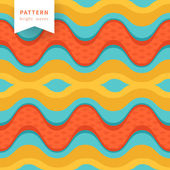Seamless abstract waves pattern — Stock Vector