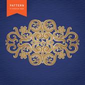 Vector baroque ornament in Victorian style. — Stock Vector