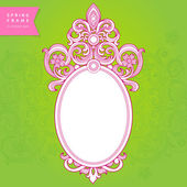 Vintage ornate frame with place for your text. — Stock Vector