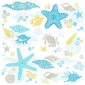 Marine life pattern. — Stock Vector