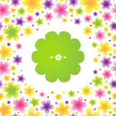 Bright floral seamless pattern — Vetor de Stock