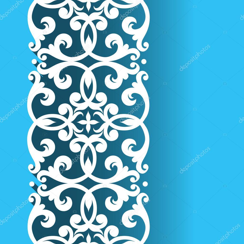 Казахские орнаменты для открытки с