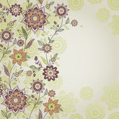 Vintage greeting cards with floral motifs in east style. — Stockvector