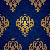 Pattern in Victorian style in gold decor. — Stok Vektör