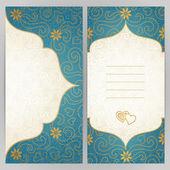 Vintage ornate cards — Stock Vector