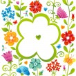 Pattern with flowers. — Stock Vector #48131275