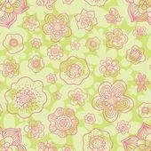 Floral outline seamless pattern. — Vecteur