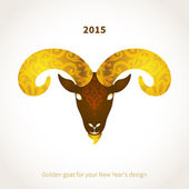 Symbol of 2015 goat — Stock Vector