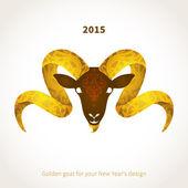 символ 2015 козла — Cтоковый вектор