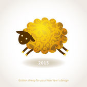 Symbol of 2015 Sheep — Stock Vector