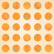 Autumn concept seamless pattern of circles. — Stock Vector #49670581