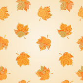 Autumn concept seamless pattern. — Stock Vector