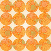 Autumn concept seamless pattern of circles. — Stock Vector