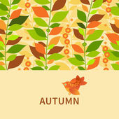 Autumn concept seamless border. — Stock Vector