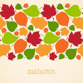 Autumn concept seamless border. — Stock vektor
