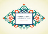Baroque frame in Victorian style. — Stock Vector
