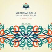 Baroque seamless border in Victorian style. — Cтоковый вектор