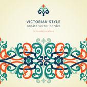 Baroque seamless border in Victorian style. — Stock Vector