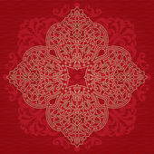 Ornate pattern on red background. — Stock Vector