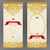 Ornate cards with with hipsters label. — Stock Vector