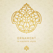 Ornament in Eastern style. — Stock Vector
